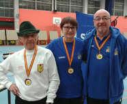 Joce en Or, André et JP en Bronze